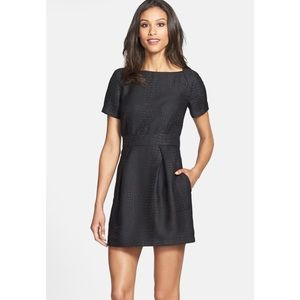 FRENCH CONNECTION black crocodile pattern dress
